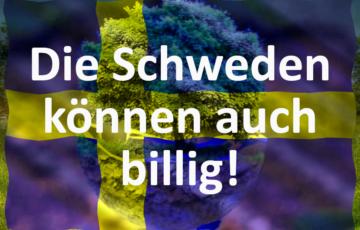 Sinus-e-Pi - Die-Schweden-koennen-auch-billig - Ökostrom mit schwedischer Fahne und Schriftzug