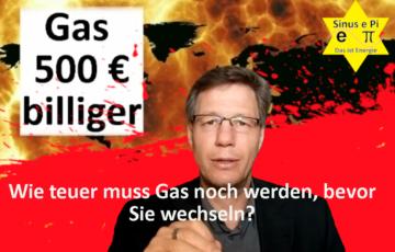 Gas 500 € billiger - Sinus e Pi