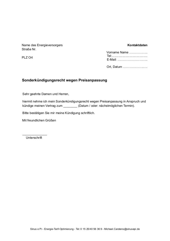 Anschreiben-wegen-Sonderkuendigungsrecht - Sinus e Pi